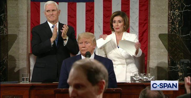 Nancy Pelosi confused 'tearing up' with 'tearing up' at SOTU