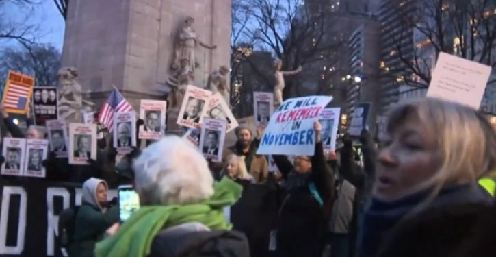New Yorkers take to the streets to protest acquittal of President Trump