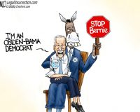 Who's pulling Biden's strings? Another hint that he is following orders