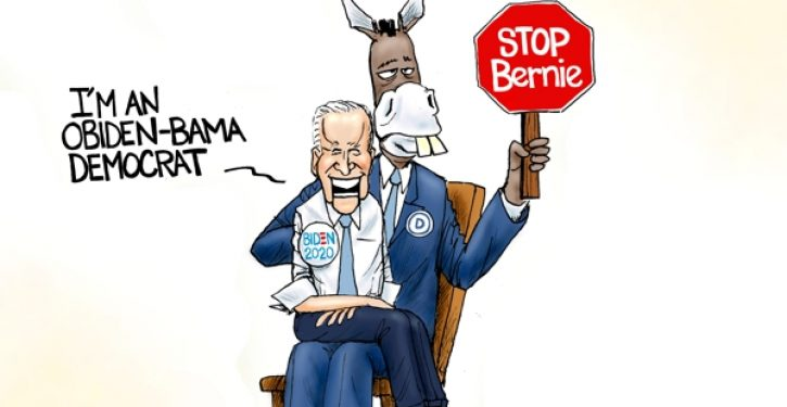 Who's pulling Biden's strings? Another hint that he is being given orders