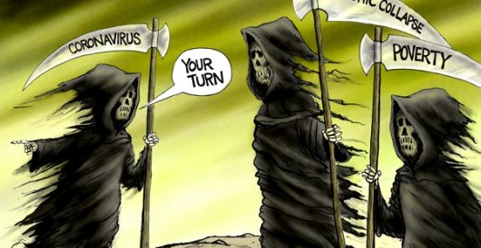 Cartoon of the Day: Three horsemen of the pandemic by A. F. Branco