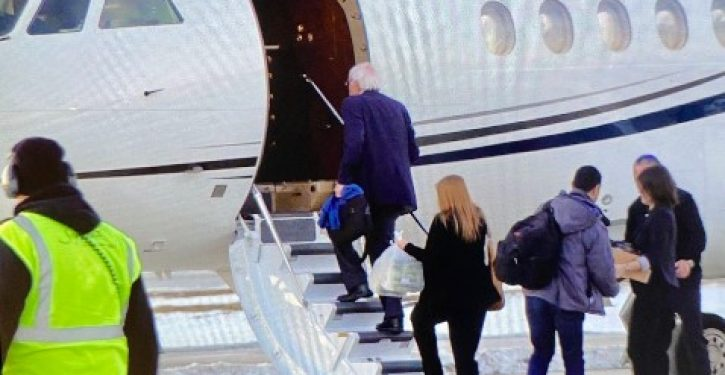 Ouch: Bernie Sanders boards the wrong private jet