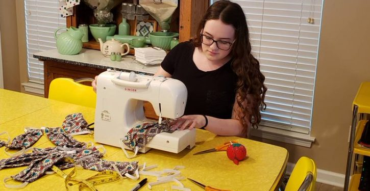 15-year-old N.C. teen is sewing face masks for hospitals short on N95