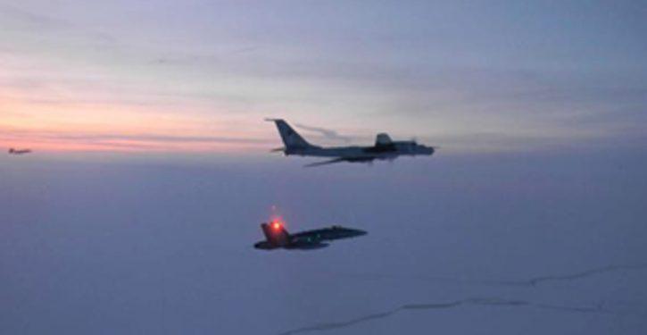 Russian maritime patrol planes off northern Alaska again; monitoring Arctic exercise