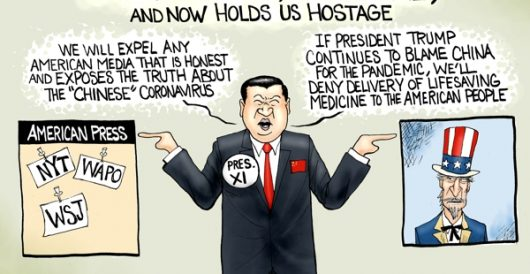 Cartoon of the Day: Chinese virus by A. F. Branco