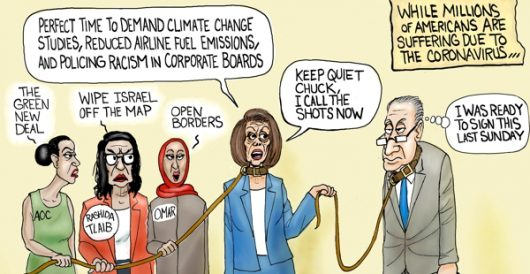 Cartoon of the Day: The Pelosi Doesn't CARE Act by A. F. Branco