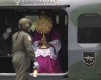 Archbishop gives Palm Sunday blessing from helicopter