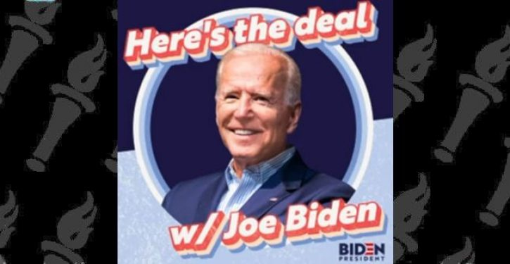 Joe Biden graduates from teleconferencing to podcasting … with hilarious results