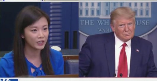 Trump asks Phoenix TV reporter at presser if she's working for Chinese government by Daily Caller News Foundation