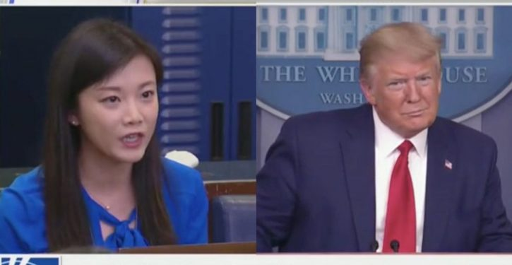 Trump asks Phoenix TV reporter at presser if she's working for Chinese government