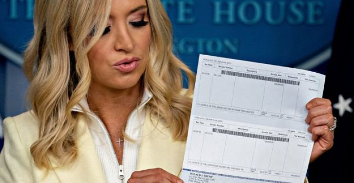 Did the WH accidentally give away the routing and account numbers for Trump's checking account?