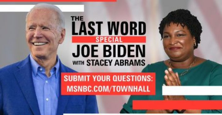 Psych: Did Biden appear on MSNBC special with Stacey Abrams for purpose of NOT naming her as running mate?