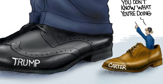 Cartoon of the Day: Yuge shoes to fill by A. F. Branco