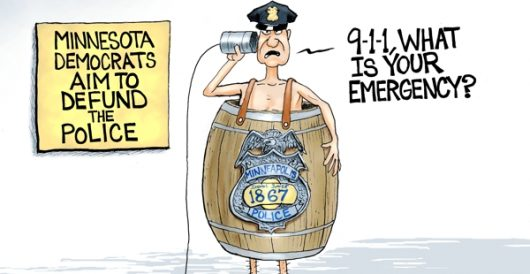 Cartoon of the Day: To protect and serve by A. F. Branco