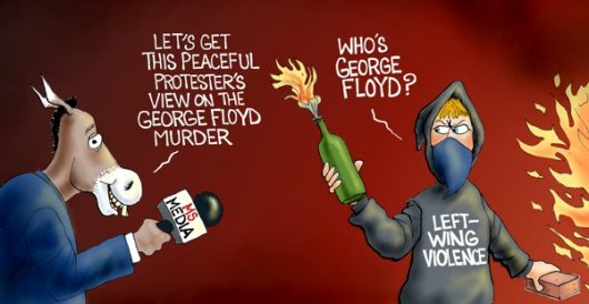 Cartoon of the Day: Mostly peaceful riots by A. F. Branco