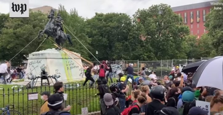DOJ charges 4 men for trying to topple Andrew Jackson statue in Washington, D.C.