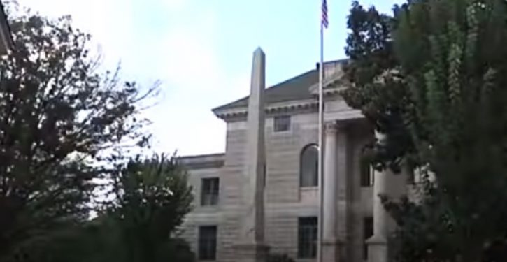Georgia judge orders monument removed; people might hurt themselves trying to topple it