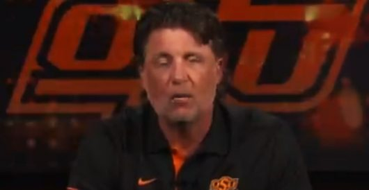 OK State Coach Gundy takes a knee or two by J.E. Dyer