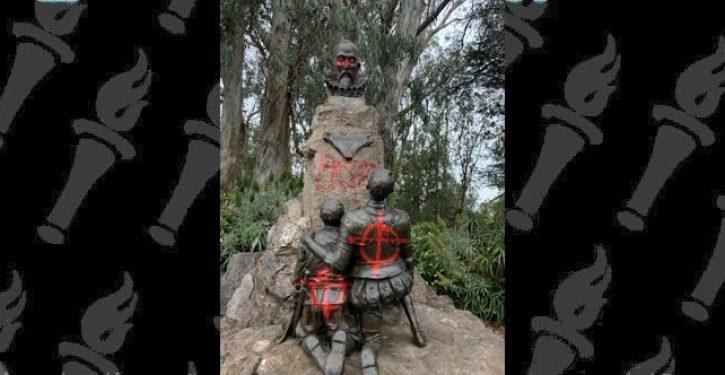 Protesters deface statue of Spanish author Miguel de Cervantes, himself a former slave