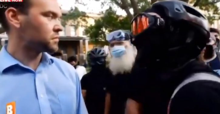 See 'black bloc militants' attack and harass conservative journalist to drive him from D.C. park