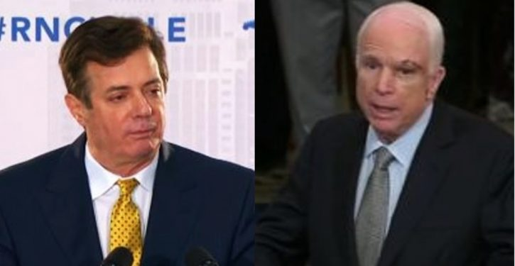 Former employee told Mueller team Manafort may have given oligarch funds to pro-McCain group