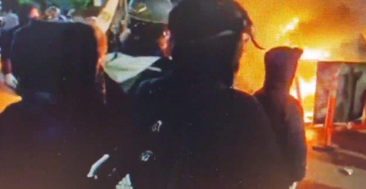 Antifa attacks Portland police precinct, sets it on fire