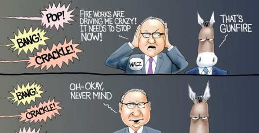 Cartoon of the Day: Minnesota fireworks by A. F. Branco