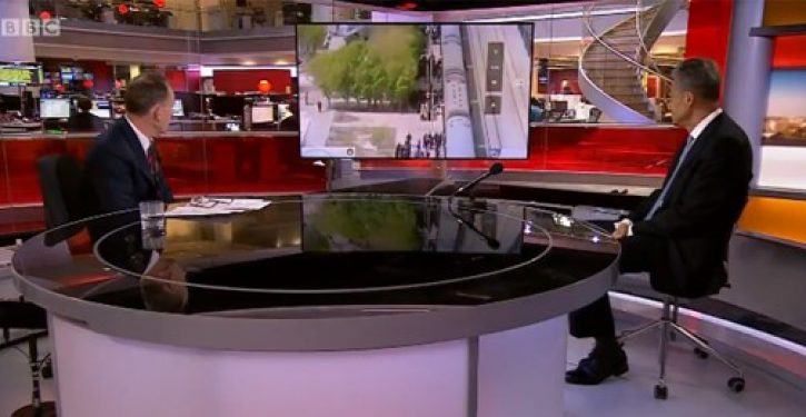 BBC host asks Chinese Ambassador to explain footage of prisoners being herded onto train