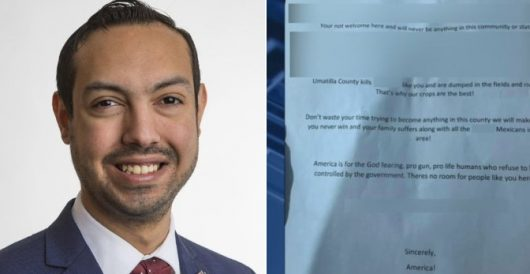 Oregon Hispanic running for office receives hate-filled racist letter: Just one problem by Ben Bowles