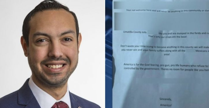 Oregon Hispanic running for office receives hate-filled racist letter: Just one problem