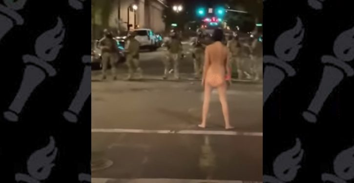 Portland 'protester' parades naked in front of federal officers; strikes ballet and yoga poses