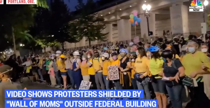 In cynical move against Trump admin, Portland radicals deploy 'wall of moms' for attack on fed courthouse