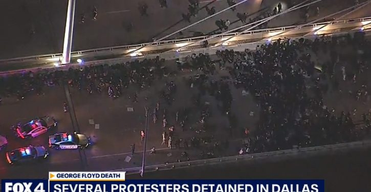 'We warned them': Dallas police actually arrested hundreds of traffic-blocking 'protesters'