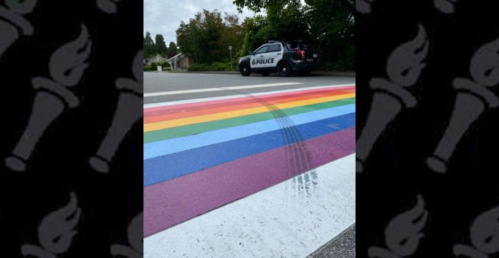 Police nab driver who defaced inclusive LGBT crosswalk decoration with 'gesture of hate' tire marks