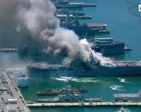 Fire, 'explosion' on Navy amphibious assault ship at San Diego Naval Station; 21 injured