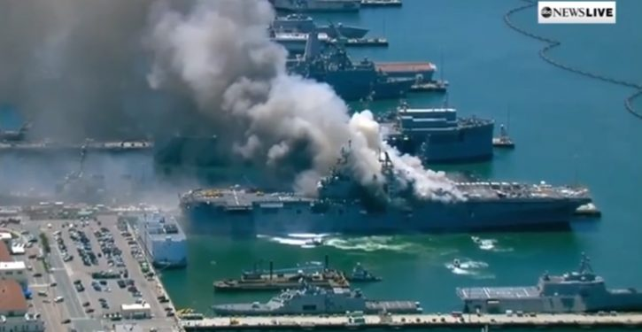 Navy charges sailor with setting fire that destroyed USS Bonhomme Richard