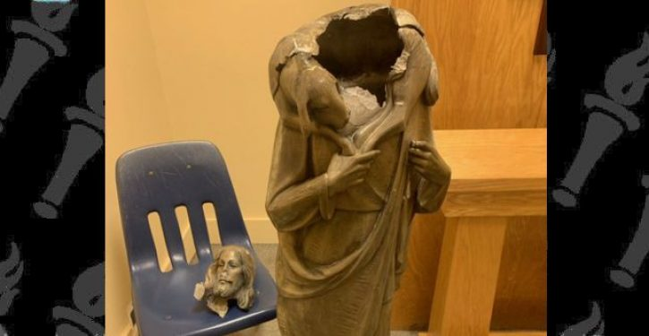 Statue of 'white' Jesus toppled and beheaded in Miami