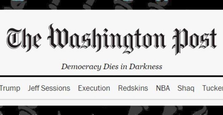 Democracy Dies in Darkness, but don't blame Trump