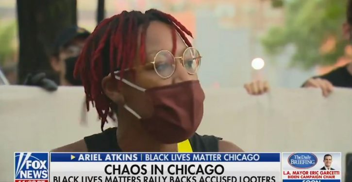 Chicago BLM leader calls looting 'reparations,' encourages looters to continue