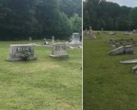 'Black Lives Matter' spray-painted on tombstones, stones toppled, at S.C. cemetery