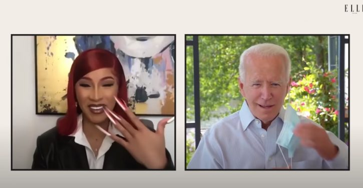 Biden continues to avoid real reporters but finds time for a 'conversation' with Cardi B