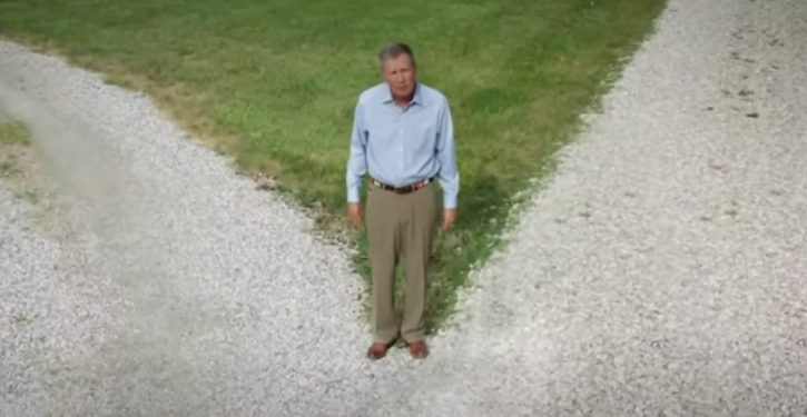 John Kasich, speaking from an empty field, annoys everyone in Dem convention slot