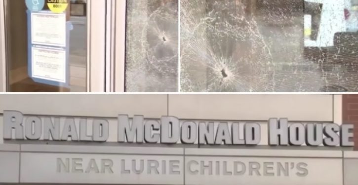 Is nothing sacred? Chicago rioters smash up Ronald McDonald House with sick children inside