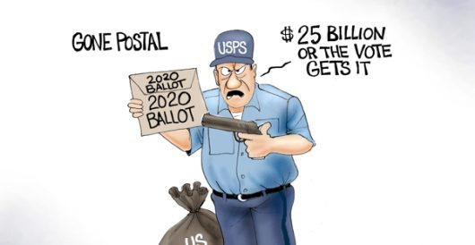 Cartoon of the Day: Going postal by A. F. Branco