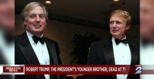 Class with a capital K: Media, Dems react to news of death of Trump's brother with 'wrong Trump' by Howard Portnoy