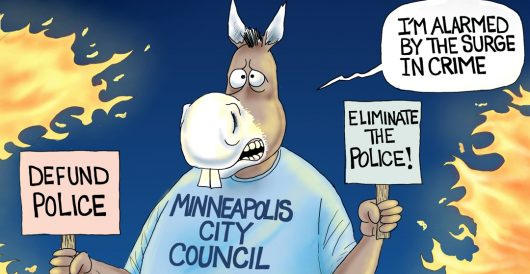 Cartoon of the Day: Where are the cops? by A. F. Branco