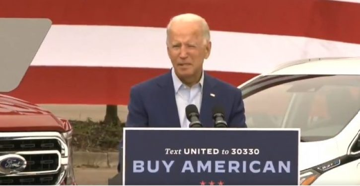 The TOTUS is back, but reading from it is above Biden's pay grade