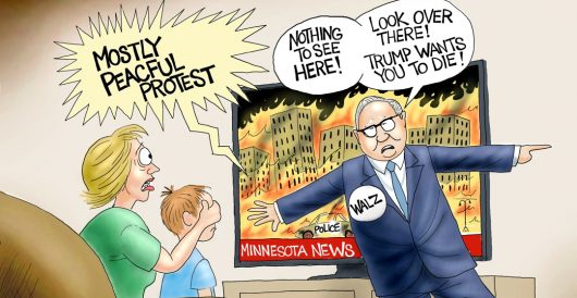 Cartoon of the Day: Fiery but peaceful messages from our leaders by A. F. Branco