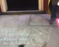 A chalkening: Protesters write Ginsburg's 'dying wish' on Sen McConnell's doorstep