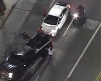 Two 'mob vs. vehicle' incidents in Los Angeles Thursday night; one person hit